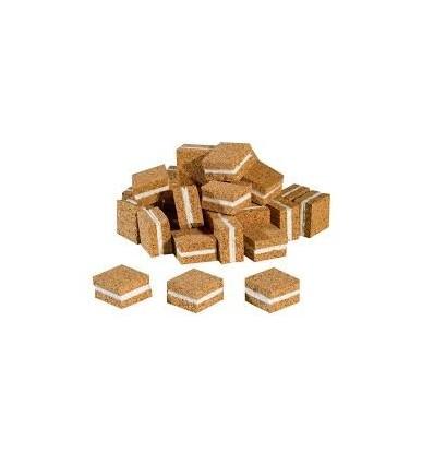 CALES LIEGE ADHESIVE 18 X 18 X 4 - (48000 Pièces/CRT)